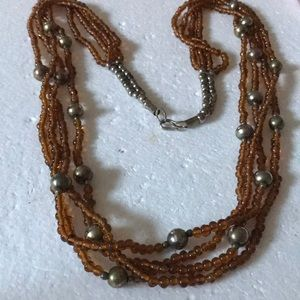 Antique glass beads necklace